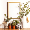 Floral decoration with hanging frame. petitejpg